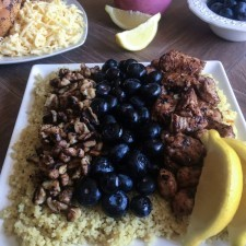 Chicken blueberry walnut couscous salad